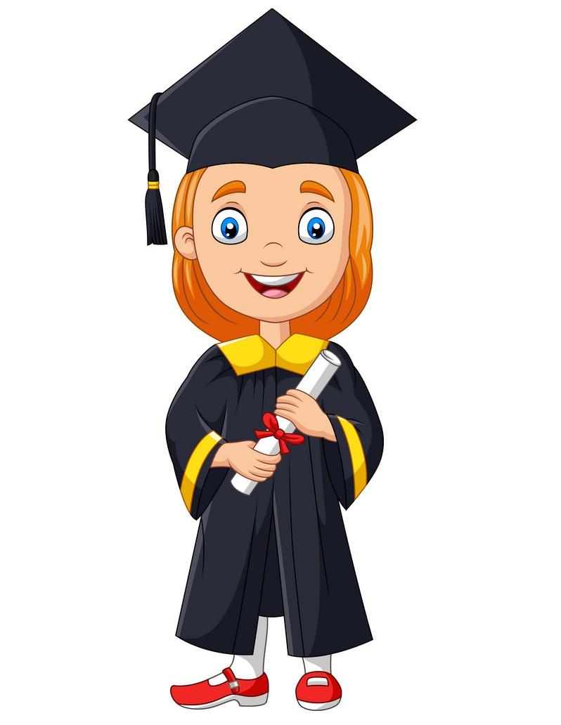 smiling graduate girl