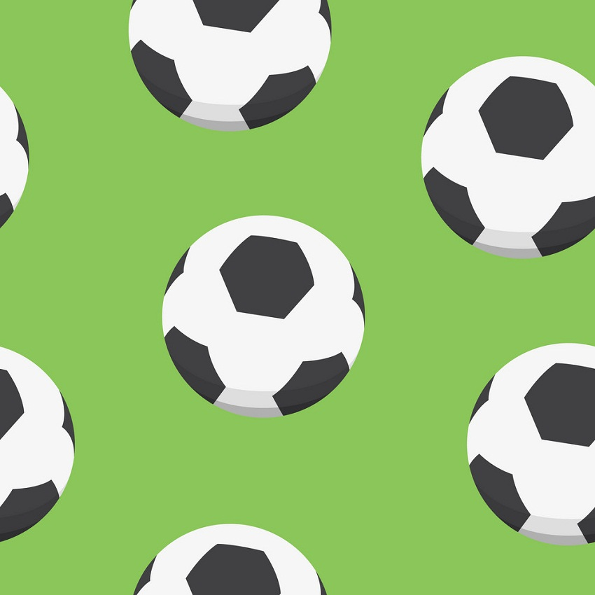 soccer ball with green background