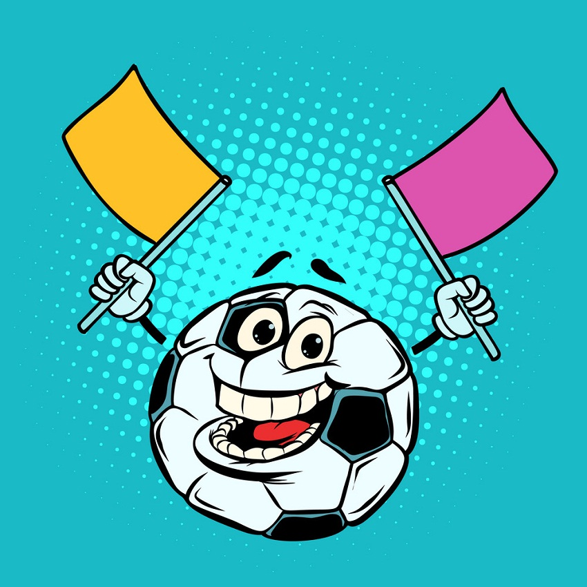 soccer ball fan with flags
