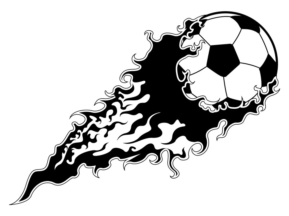 soccer ball with an effect