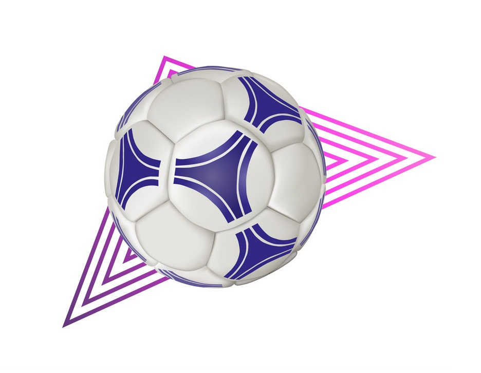 soccer ball with geometric