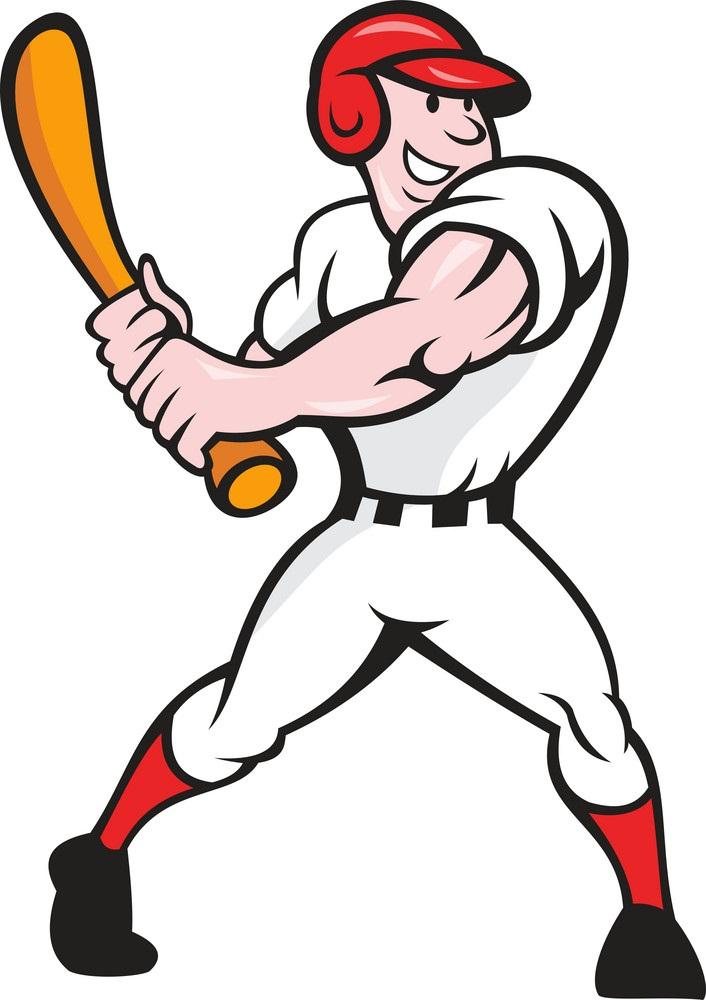 strong baseball player batting
