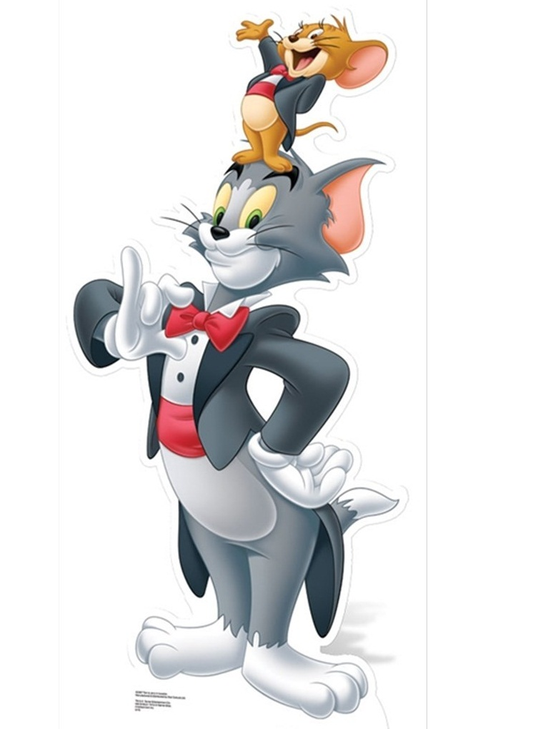 tom and jerry wearing tuxedos