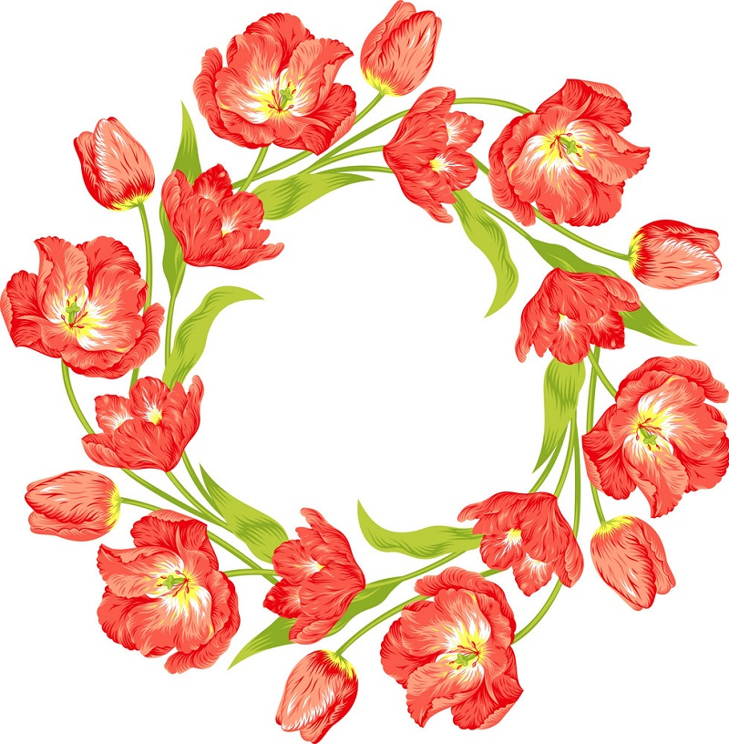 tulips wreath