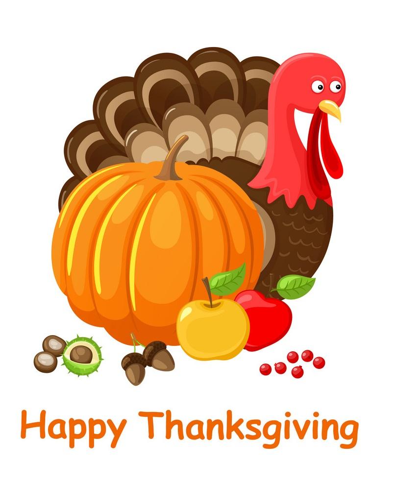 turkey with pumpkin