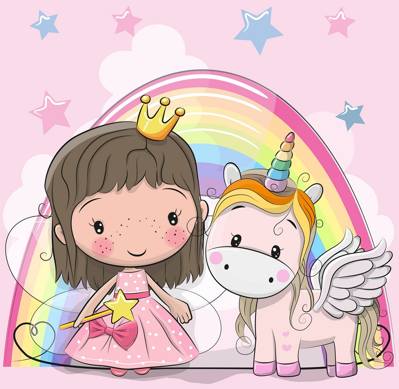 unicorn with fairy princess