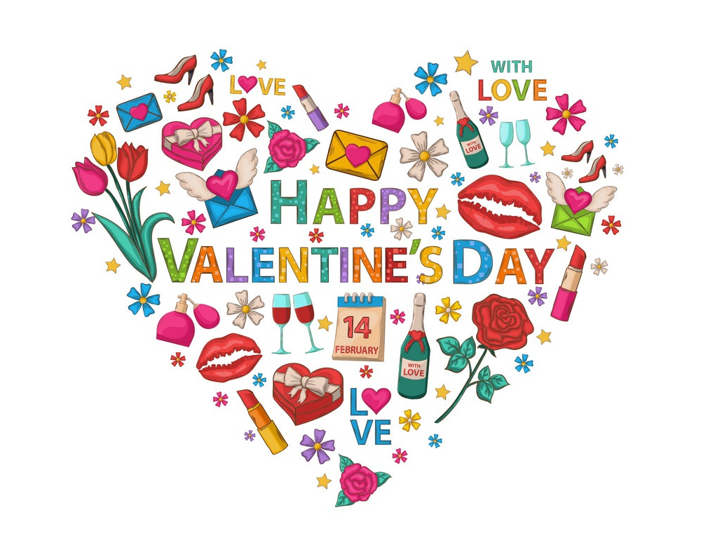 happy valentine's day with love