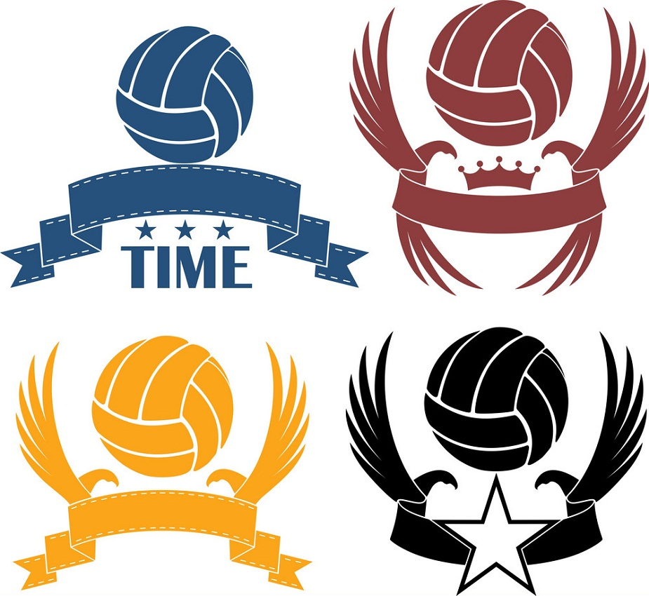 volleyball logo set