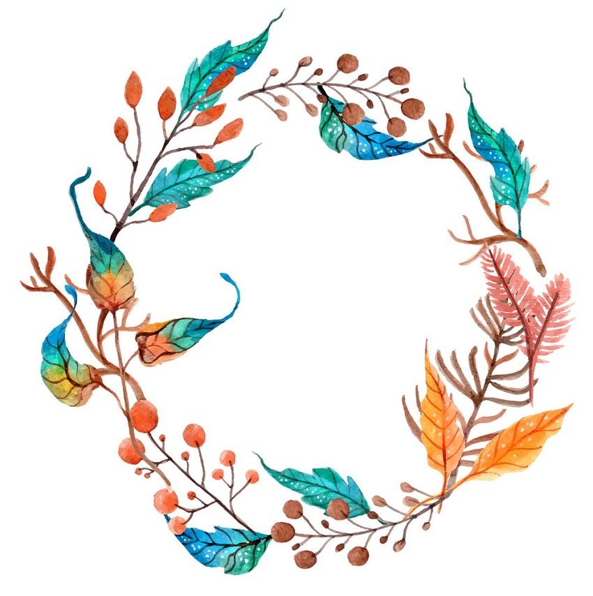watercolor flower wreath 1