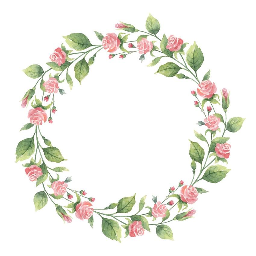 watercolor wreath 4