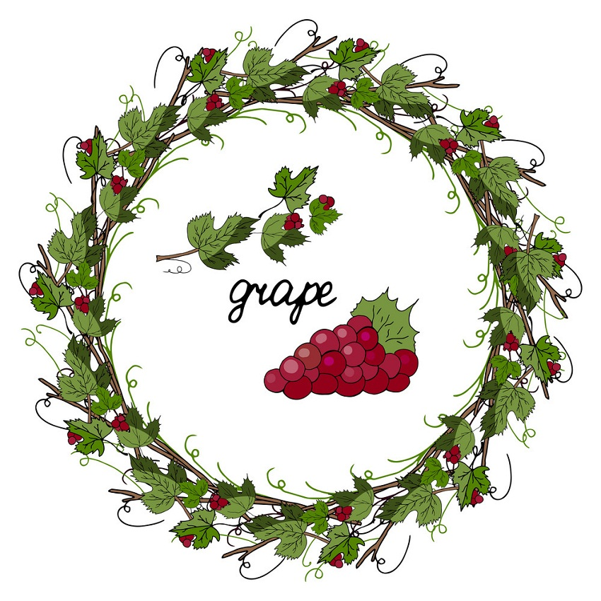 wreath of grapes
