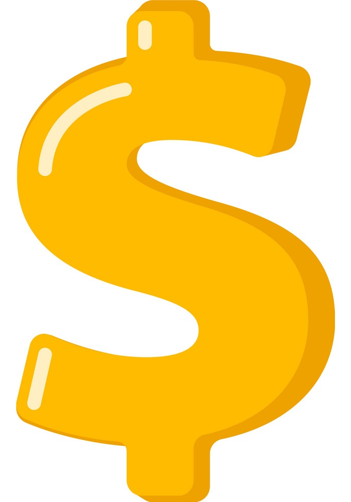 yellow dollar sign