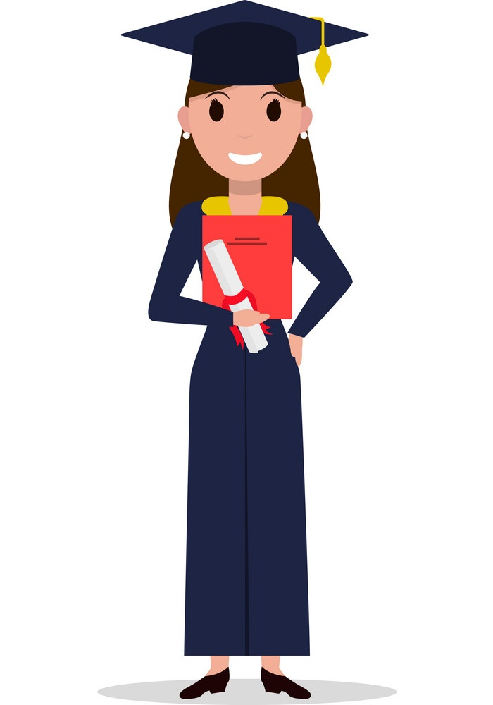 young graduate girl