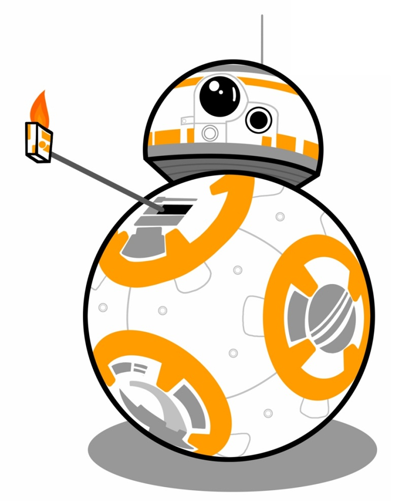 BB8 with lighter