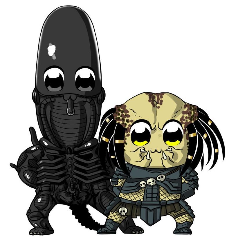anime alien and predator