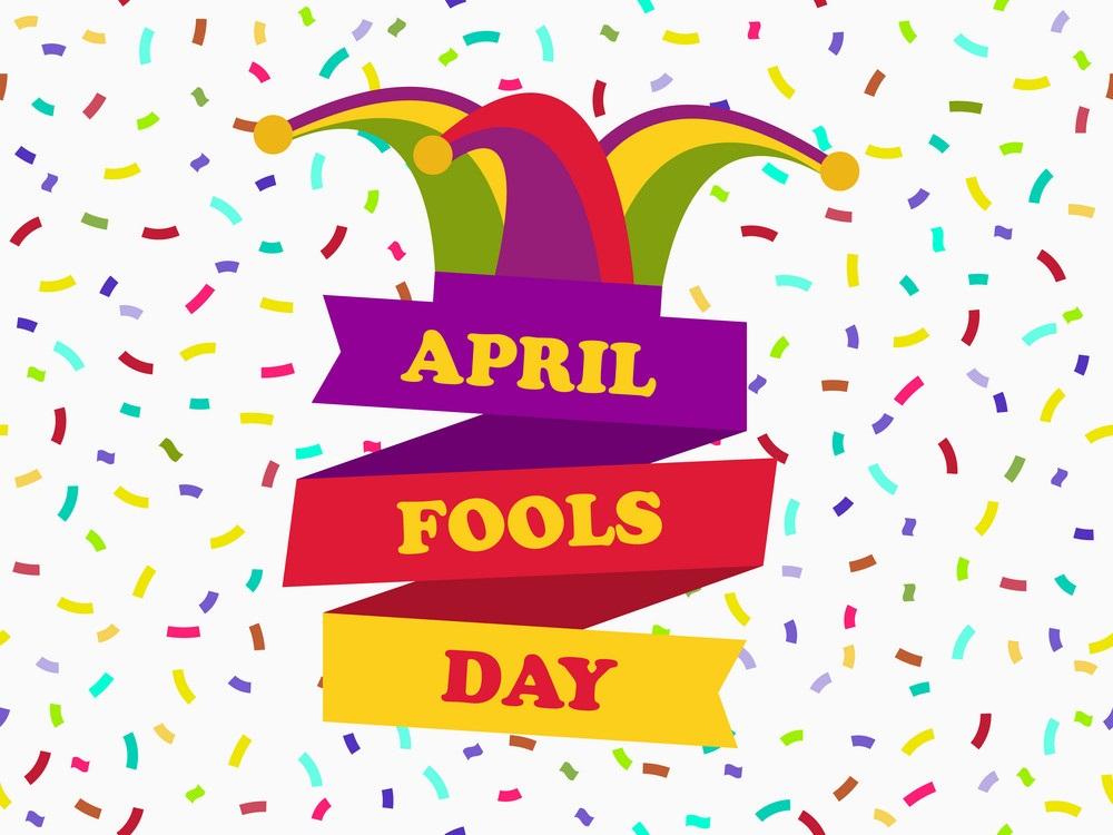 april fool's day with confetti