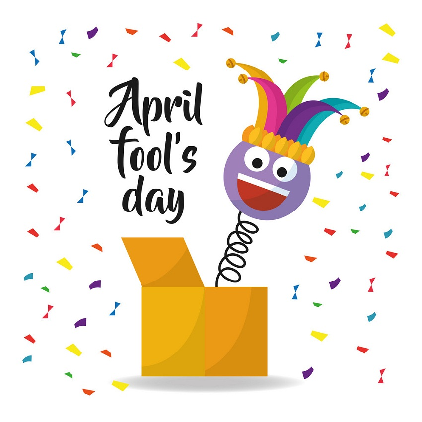 april fool's day with funny box