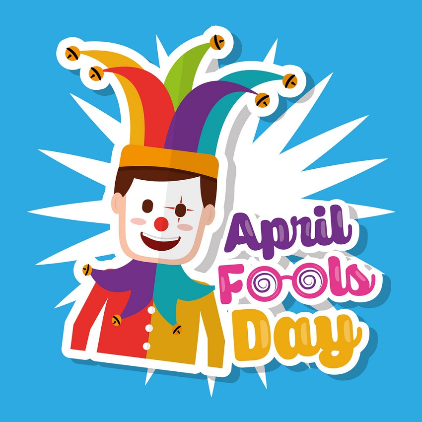 april fool's day with joker mask