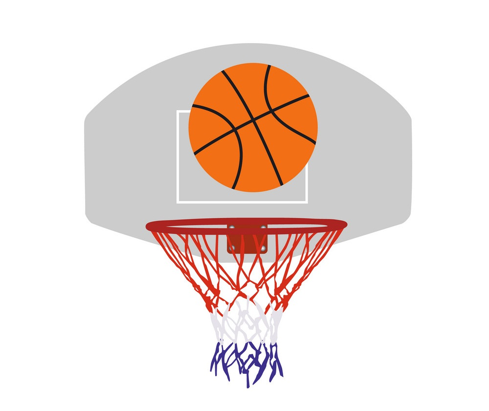 basketball ball and basket