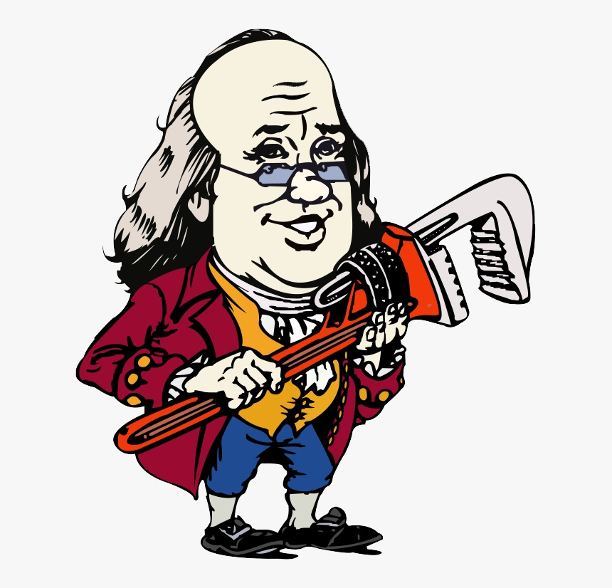 ben franklin with wrench