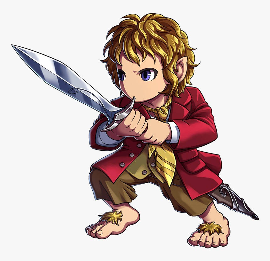 bilbo baggins holding his sword