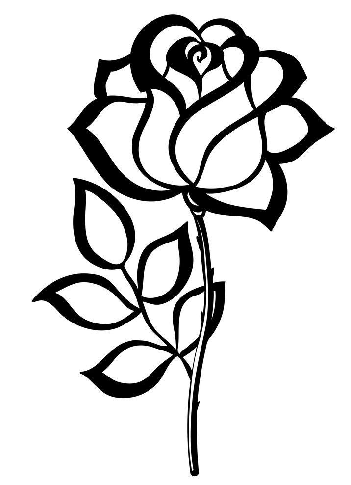 black rose outline 1