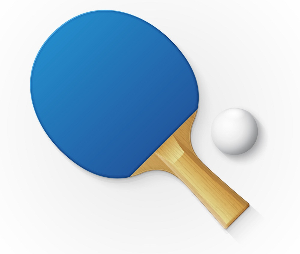 blue table tennis racket