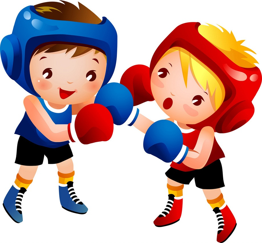boxing boy and girl