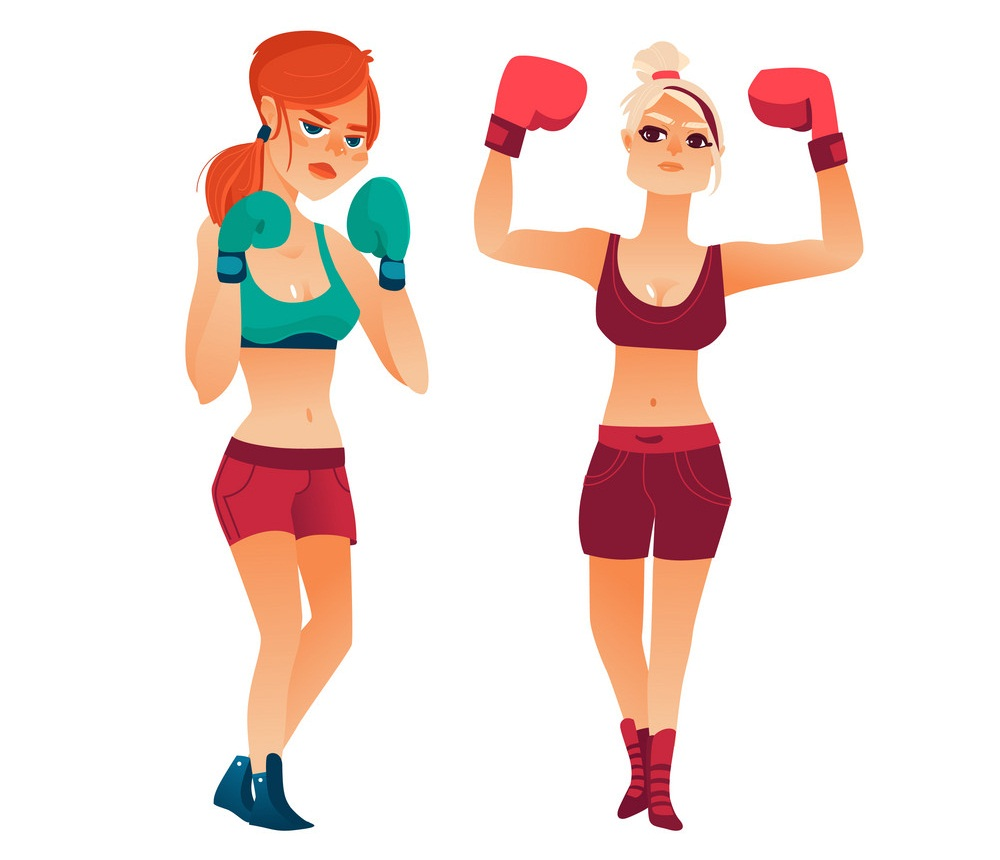 boxing ladies