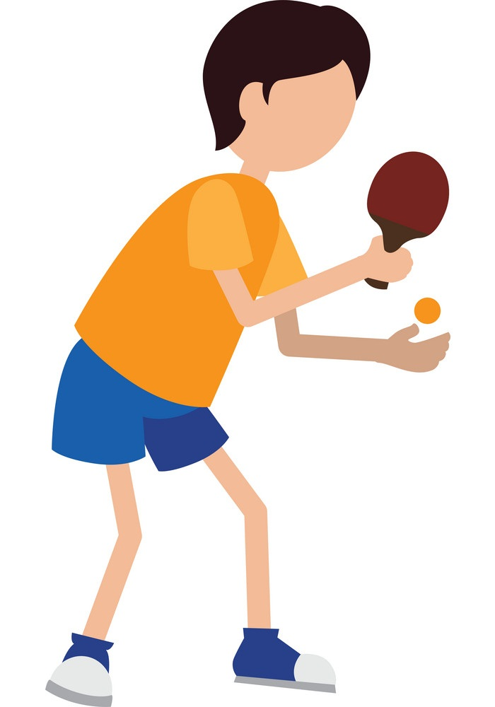 boy playing table tennis icon