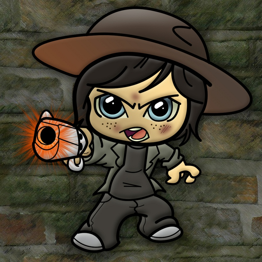 carl grimes with pistol