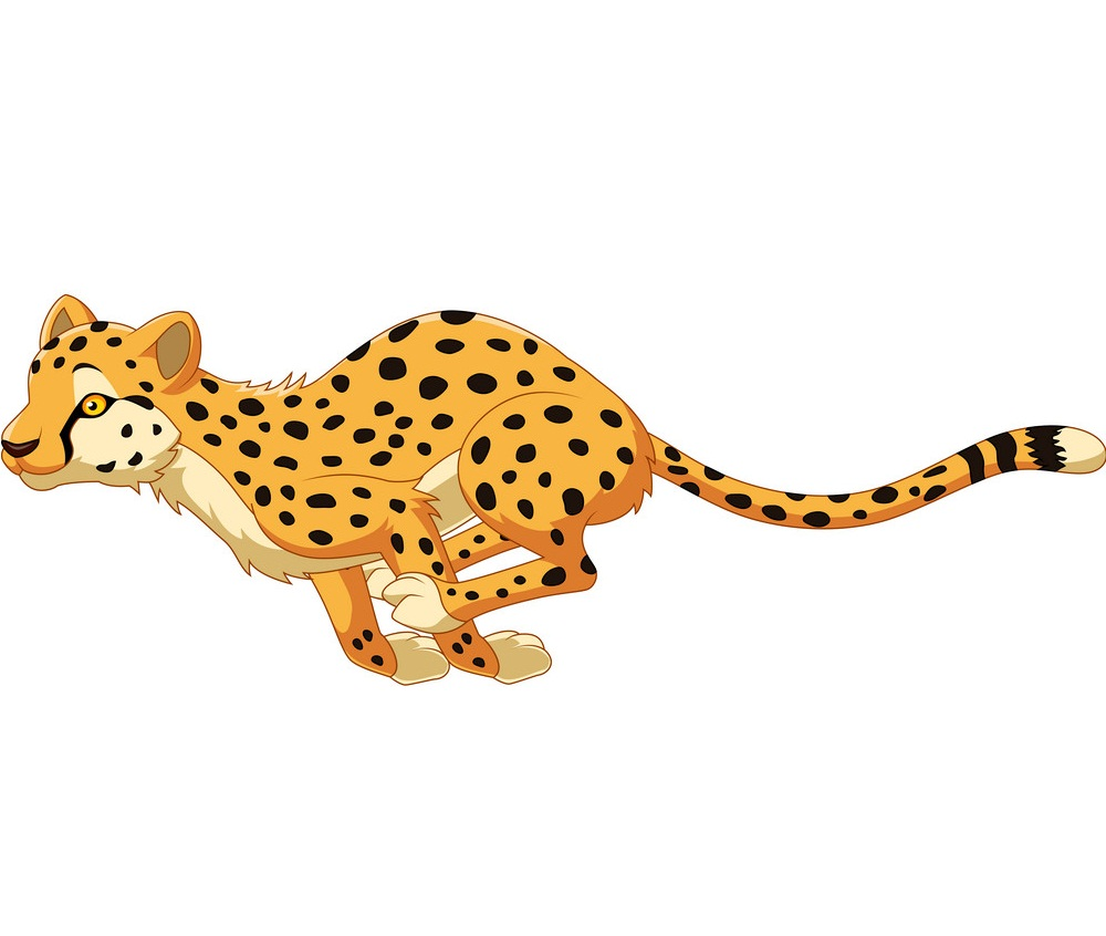 cartoon cheetah running