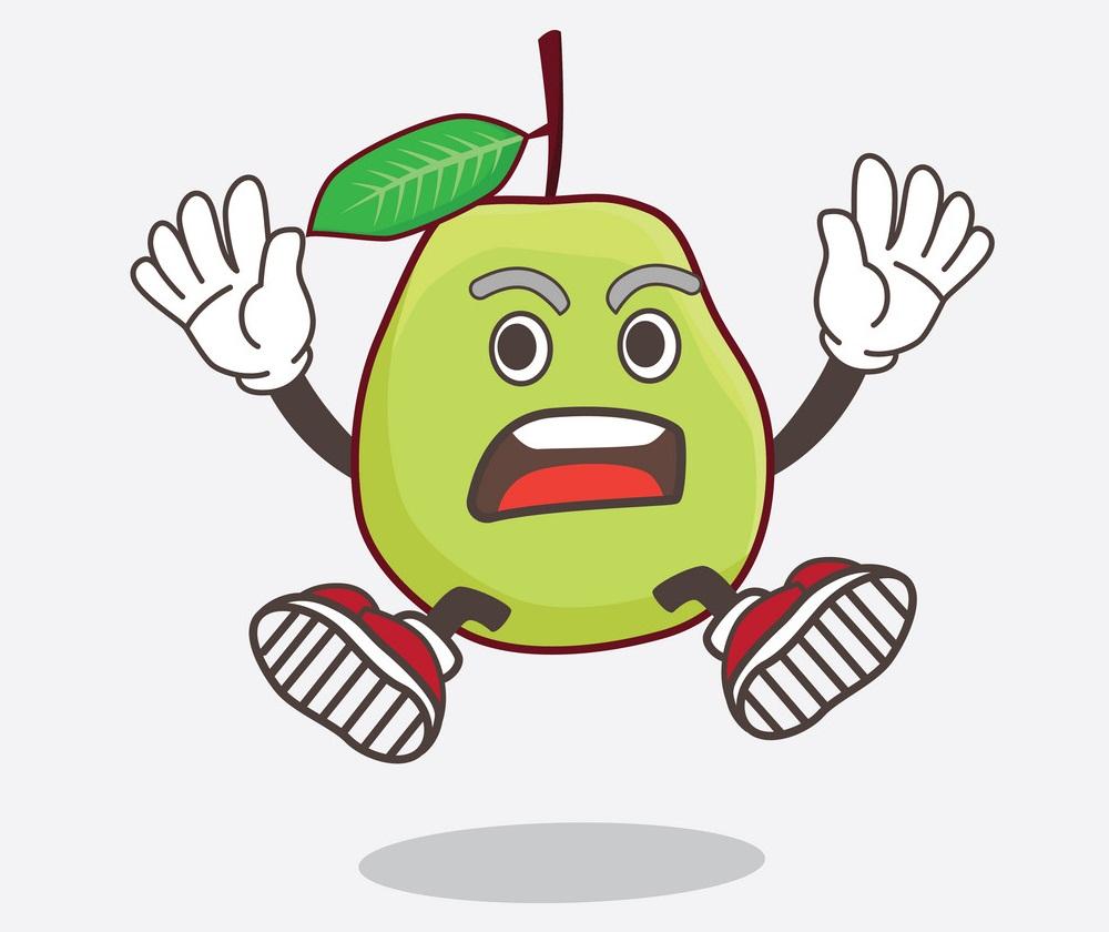 cartoon guava gets shocked