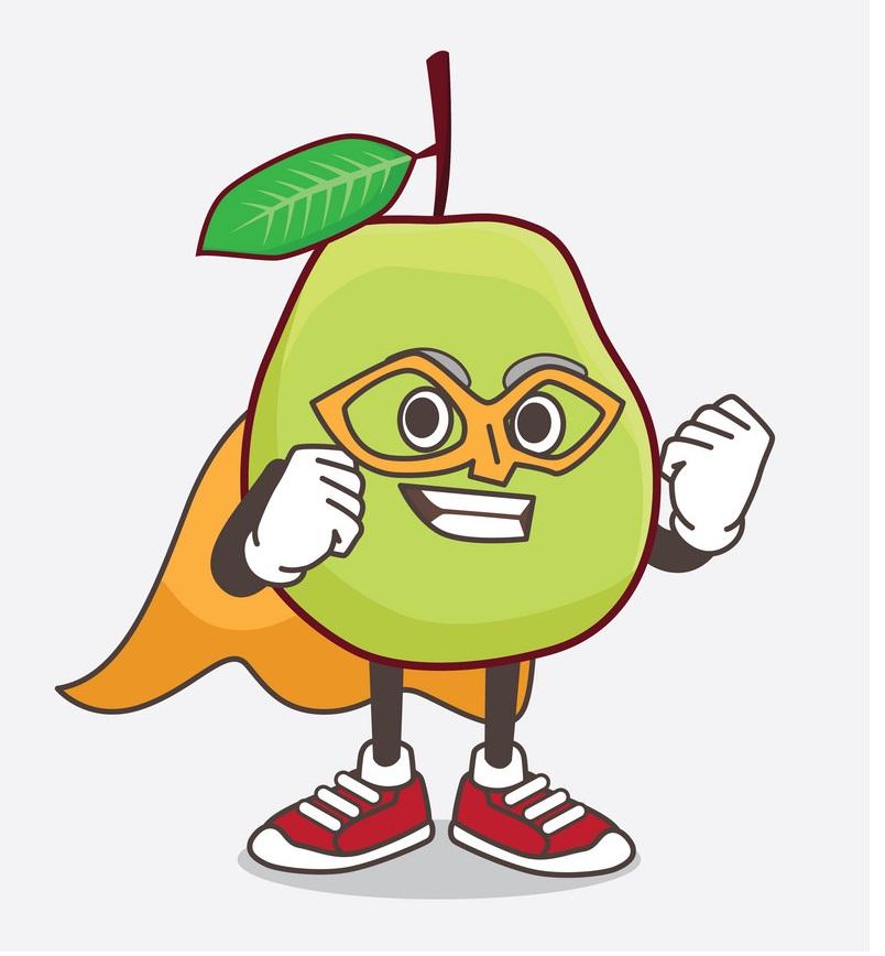 cartoon hero guava