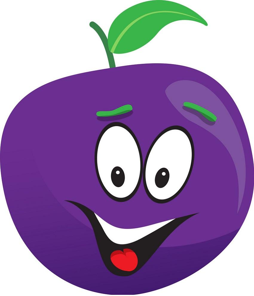 cartoon plum