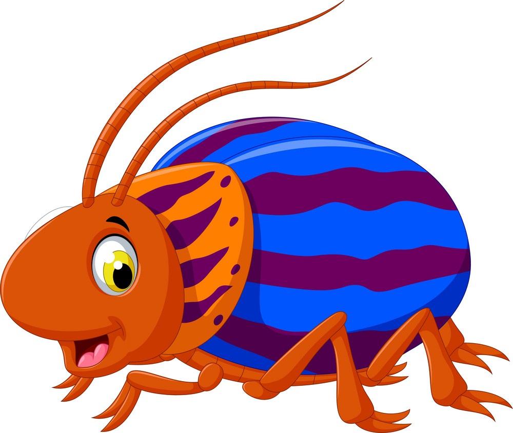 cartoon saperda beetle