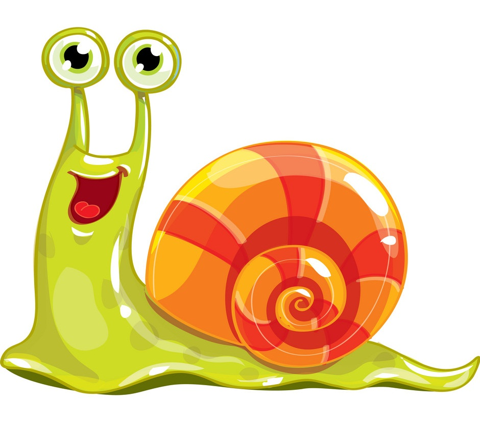 cartoon slimy snail