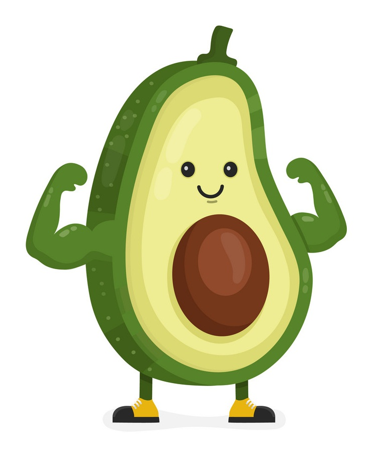 cartoon strong vocado