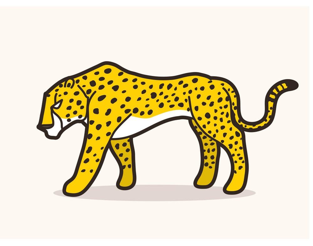 cheetah flat design 1