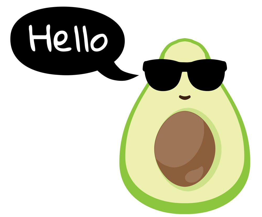 cool avocado says hello