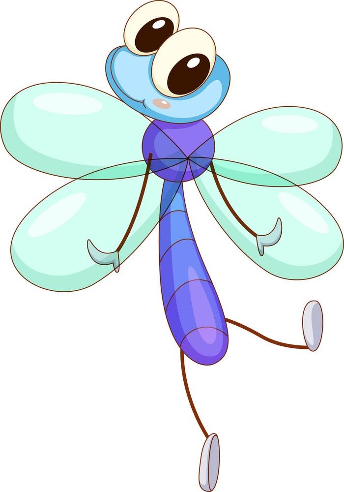cute dragonfly dancing