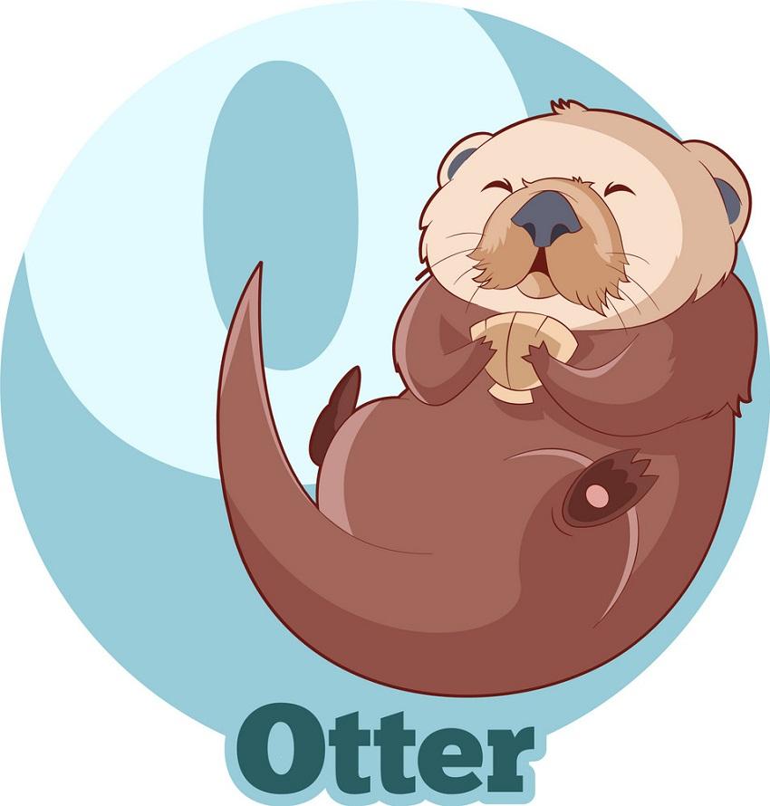 cute otter seeping