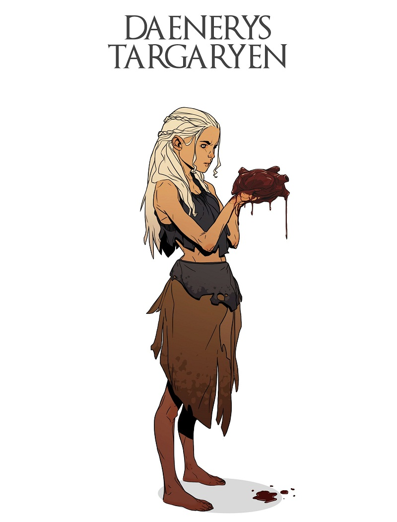 daenerys targaryen with a heart