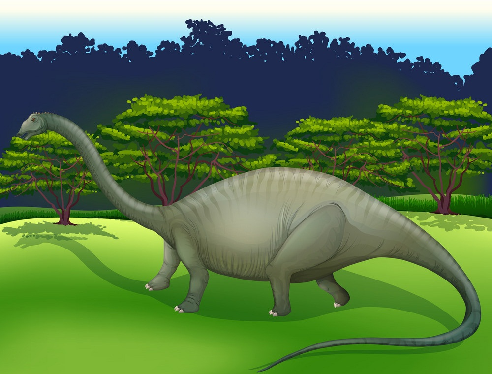 diplodocus in the wild