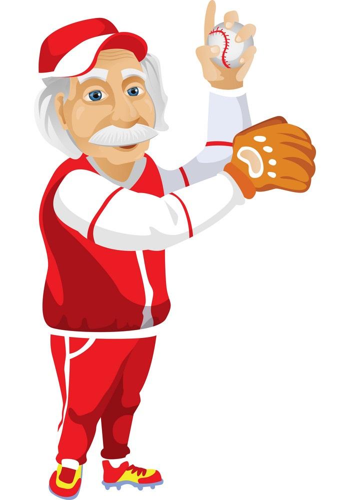 einstein playing baseball