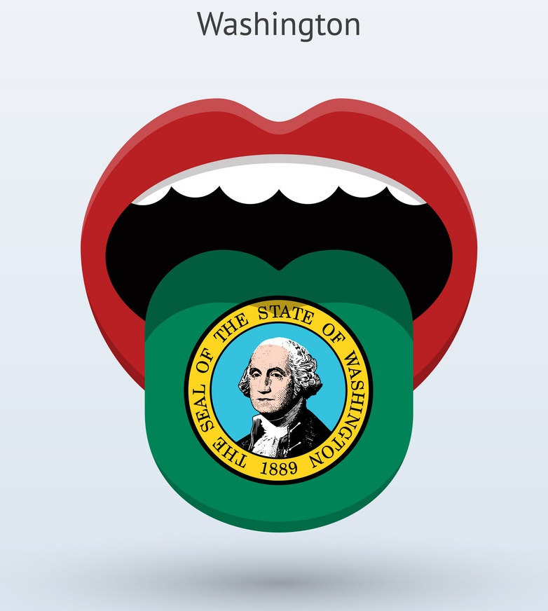 electoral vote of washington abstract mouth