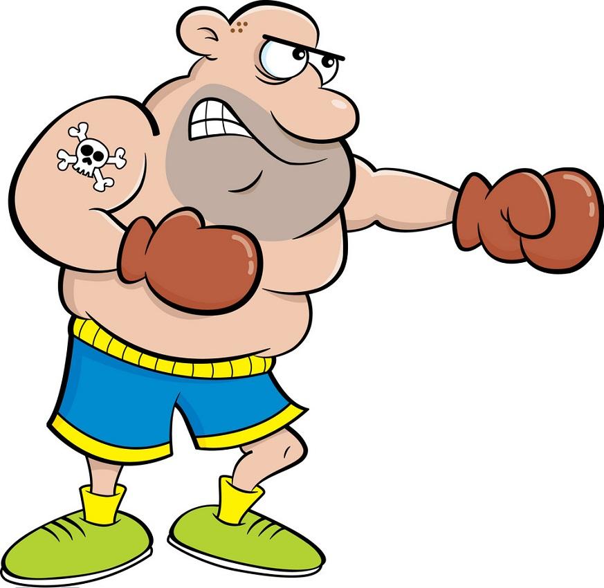 fat boxer punching