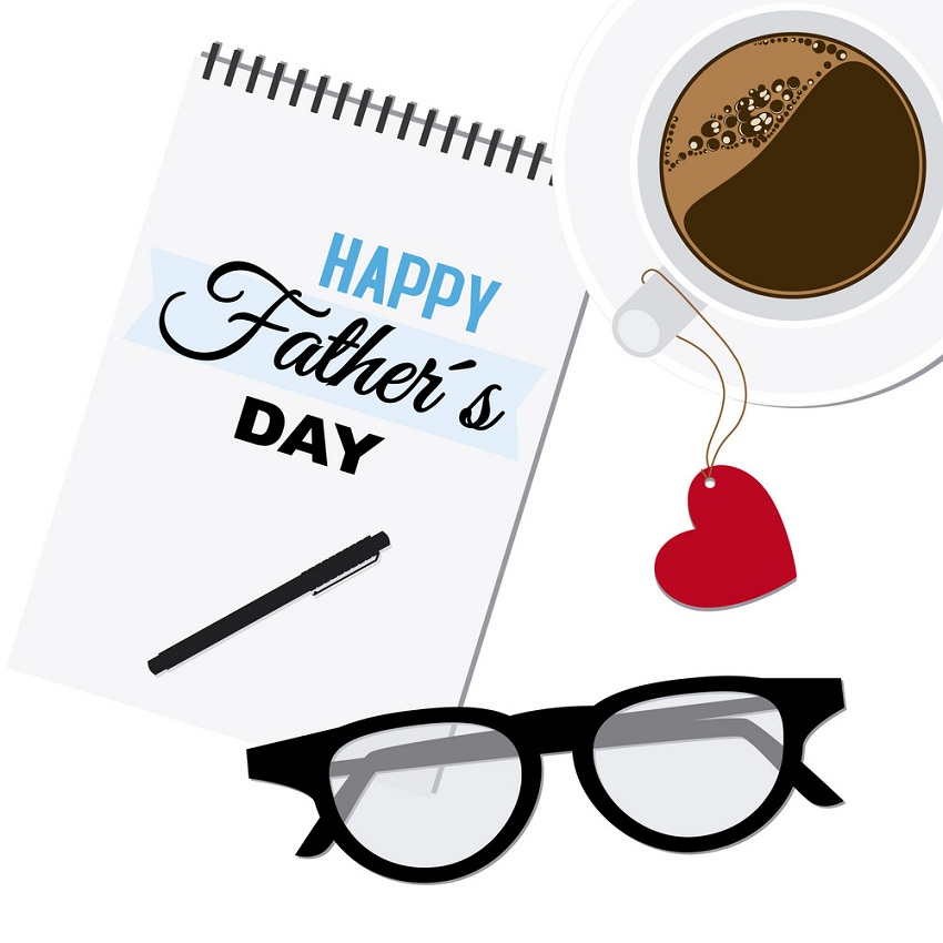 father's day with cup of coffee