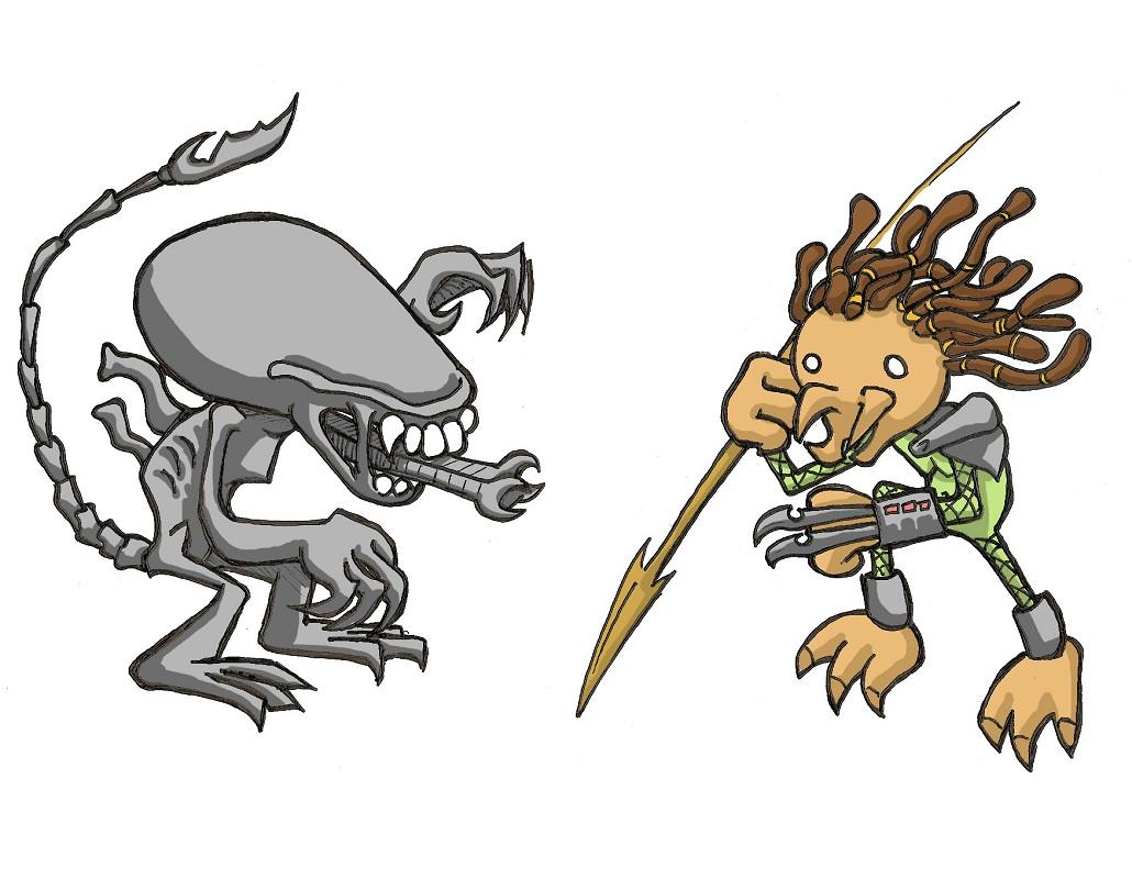 funny alien vs predator