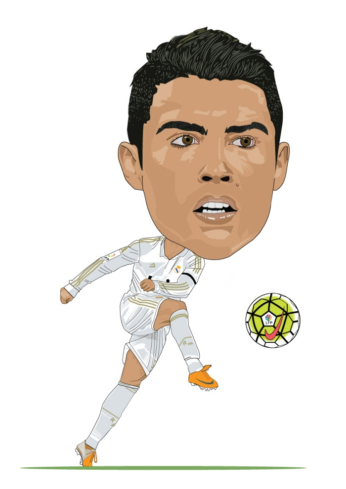 funny ronaldo kick the ball